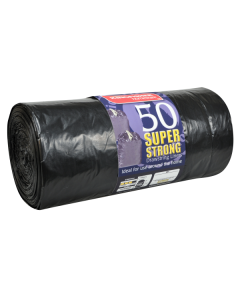 50 Pack of Super Strong Drawstring Bin Liners