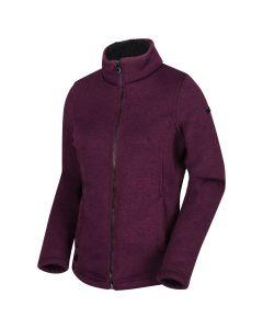 Regatta Women's Raizel Knit Effect Full Zip Fleece - Prune Black