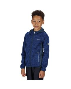 Regatta Dissolver II Kids' Hooded Fleece - Nautical Blue Dark Denim