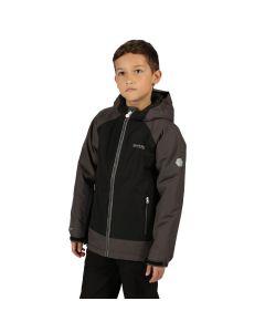 Regatta Hurdle III Kids Jacket Magnet Grey Black