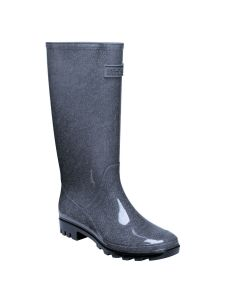 Regatta women's Wenlock Wellingtons - Oynx Grey Black