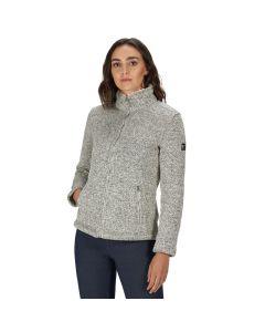 Regatta Women's Razia Full Zip Heavyweight Knit Effect Fleece Light Vanilla
