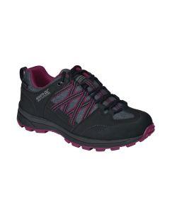 Regatta Samaris II Low Women's Walking Shoes - Black/Purple (V)