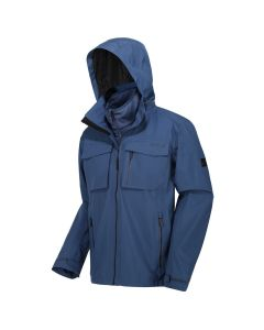 Regatta Men's Shrigley 3 In 1 Waterproof Insulated Hooded Walking Jacket Brunswick Blue