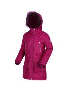 Regatta Kids' Haloma Waterproof Insulated Fur Trimmed Parka Jacket - Beetroot