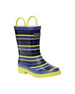 Regatta Kids Minnow Junior Wellington Boot  - Surfspray Lime