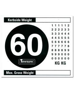 60 Mph Vehicle Speed Limit Sticker Kit