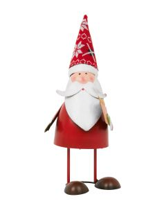 Bouncing Santa Claus with Present - 30cm Metal Spring Christmas Figurine