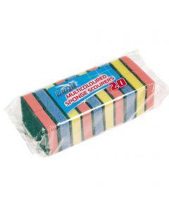 20 Sponge Scouring Pads