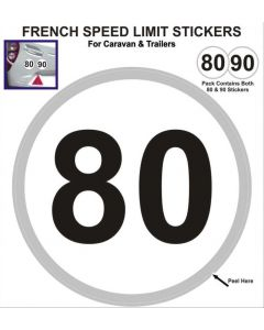 French Speed Limit Stickers - 80/90 KPH