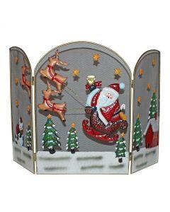Premier Decorations Santa and Reindeer Fireguard - 49cm