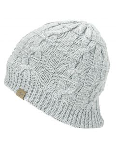 Sealskinz Knitted Grey Marl Waterproof Beanie Hat - Unisex