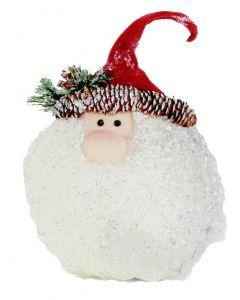 Sparkle Santa Head Decoration - 13cm