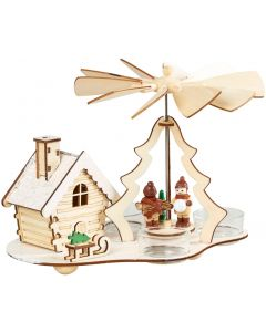 Christmas Tealight Pyramid Smokehouse Incense Burner - Winter Children