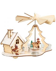 Christmas Tealight Pyramid with Smokehouse Incense Burner - Lumberjack