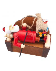 Sleeping Santa Incense Burner Smokerman Figure