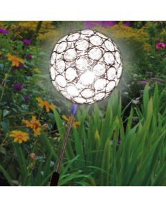 White LED Solar Crystal Sphere Light
