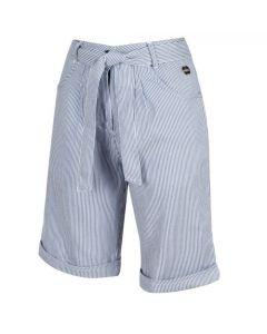 Regatta Women's Samarah Coolweave Cotton Shorts - Blue Ticking Stripe
