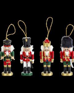 Hanging Christmas Nutcracker 15cm (Single, Assorted Designs)
