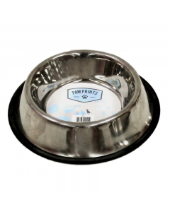 Paw Prints Pet Bowl - Stainless Steel (25cm)