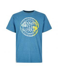 Weird Fish Summer Surf Branded Print T-Shirt - Harbour Blue Marl
