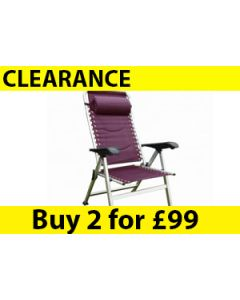 Seville Padded Reclining Chair-Purple