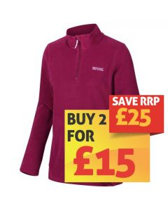 Regatta Women's Sweethart Lightweight Half-Zip Fleece - Beetroot