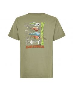 Weird Fish Sling Your Hook Artist T-Shirt - Khaki Green