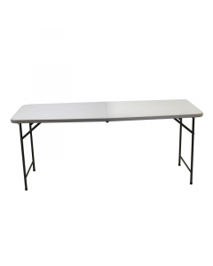 Kingfisher Plastic Folding Trestle Table - 6FT White