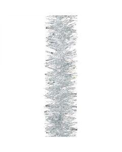 Silver Chunky 10cm Christmas Tinsel Silver - 2 Metres