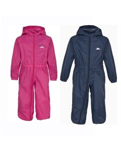 Trespass Button Babies Rain Suit - Gerbera / Navy