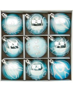 Ice Blue Christmas Tree Decorations