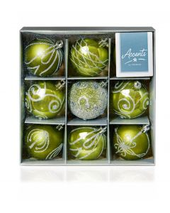 Premier Green Baubles