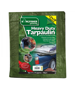 Kingfisher Heavy Duty Tarpaulin - 3.7 x 5.5m