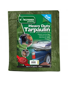 Kingfisher Heavy Duty Tarpaulin - 1.8 x 2.7m
