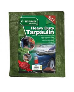 Kingfisher Heavy Duty Tarpaulin - 2.4  x 3.7m