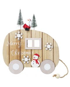 Heaven Sends Merry Christmas Caravan Hanging Sign
