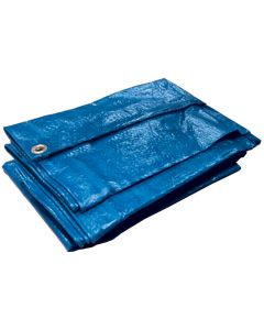 Tarpaulin With Fitted Eyelets - Blue