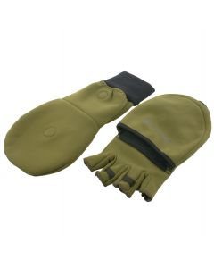 TrekMates Rigg Convertible Mitts Olive Green Unisex