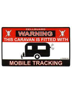 Caravan Sticker - Tracker Fitted