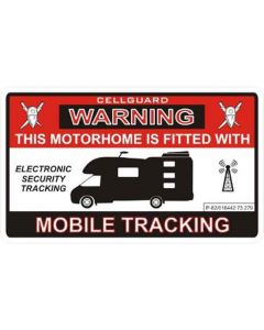 Motorhome Sticker - Tracker Fitted