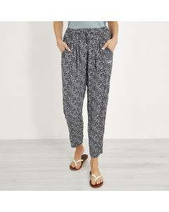 Weird Fish Tinto Printed Harem Trousers - Indigo