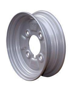 "Trailer Wheel Rim - 400 X 8 - 4"" PCD - Silver"