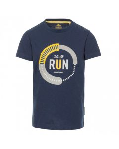 Trespass Undaunted Kid's Printed T-Shirt - Navy