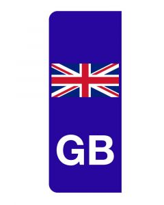 GB Union Jack Number Plate Sticker
