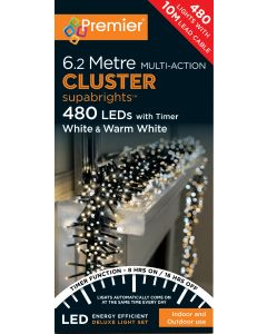 Premier 480 Multi-Action Clusters White/Warm White With Timer