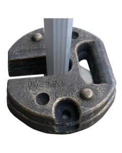 Pair Of 12.5kg Steel Shelter Weights