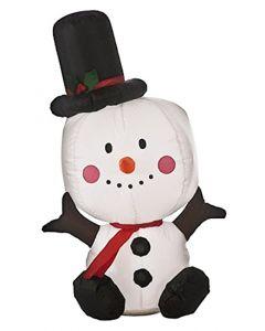 Festive Inflatable Snowman - 80cm