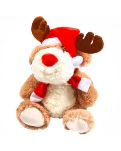 """Soft Rednose Reindeer Christmas Plushie - 12"""" Tall"""