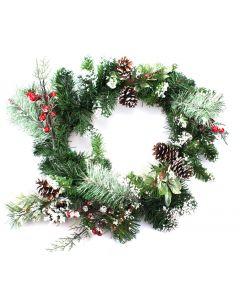 Festive 50cm Pine Cone Christmas Wreath